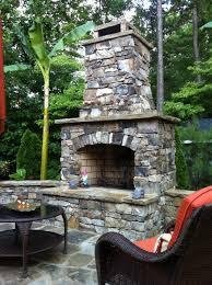 outdoor stone fireplace. Outdoor Stone Fireplace Kit Traditional-landscape L