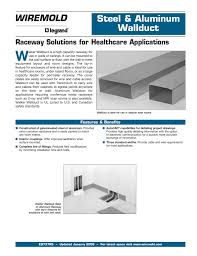 Wiremold Size Chart Wiremold Raceway Solutions For Healthcare Applications