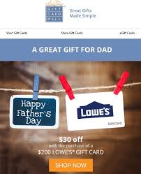 lowes gift cards on