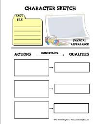 character sketch notebooking pages the