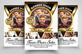 barber flyer barber shop flyers by designhub719 design bundles