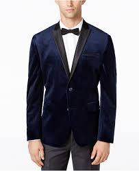 Inc International Concepts Men S Jackets Size Chart Inc Mens Mason Slim Fit Velvet Blazer Created For Macys