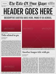 Blank Newspaper Template Microsoft Word Template And Paper