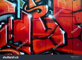 Fragment Detailed Graffiti Drawing Made Aerosol Stockfoto Nu