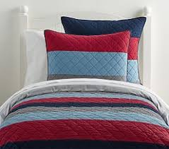 Boys Quilts & Comforters | Pottery Barn Kids & Block Stripe Quilt ... Adamdwight.com