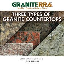 types of granite countertops