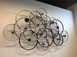 bicycle rim wall art
