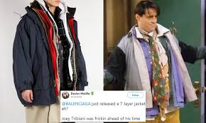 Balenciaga Gets Inspiration From Joey Tribiani From Friends For