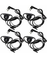 motorola 1410 headset. hqrp 4-pack d shape earpiece headset ptt mic for motorola cls1110, cls1410, 1410 m