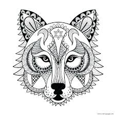 Wolf Coloring Pages Printable Realistic Wolf Coloring Pages