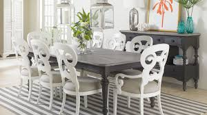 white coastal furniture. coastal living retreat stanley furniture cottage collection vintage white chairs and square dark brown d