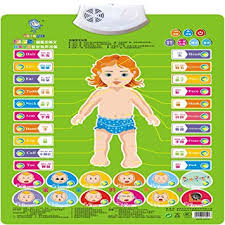 Baby Learning Chart Amazon Com Wall Chart Nacola Baby Early Education Audio