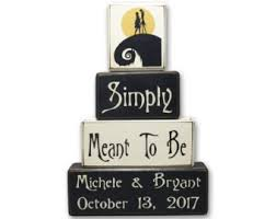Nightmare Before Christmas Wedding - Personalized - Nightmare before  christmas - wood sign