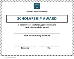 Samples Of Awards Certificates 5 Plus Scholarship Award Certificate Examples For Word And Pdf