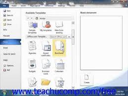 microsoft 2010 templates word 2010 tutorial using templates 2010 microsoft training lesson 8 1