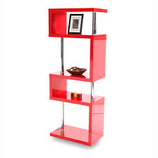 miami slim high gloss shelving unit red to enlarge