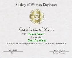 2017 Merit Certificates Swe Boston Section