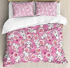 And there are a number of reasons to buy. Amazon Com Wanxinfu Anime 4 Piece Bedding Set Full Size Funny Kawaii Illustration With Rabbits Funky Cute Animals Bunnies Kids Humor Print 4 Pcs Duvet Cover Set Comforter Cover Bedspread With 2 Pillow