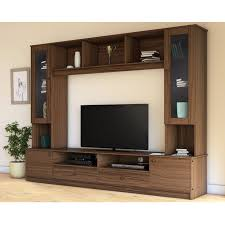 malaysia full wooden carbonized featured wall tv stand with bookcase and wine cabinet