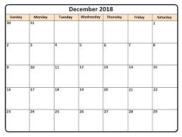 printable calendar month december 2018 printable calendar monthly planner december 2018