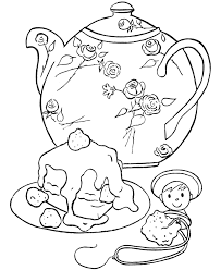 gallery tea party coloring pages image 6 of 10