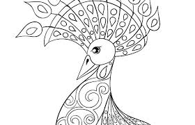 Coloring Pages Adults Easy Free Printable Holiday Adult Peacock Page