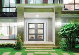 double entry door with glass