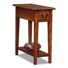 oak end tables with drawers home furniture design