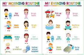 Kids Daily Routine Chart Pin On Toddler A