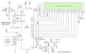 digital temperature controller circuit diagram the wiring diagram humidity sensor using 8051 micro controller measure humidity circuit diagram