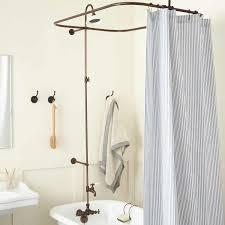 Entranching Leg Tub Solid Brass Shower Enclosure Set Bathroom Of