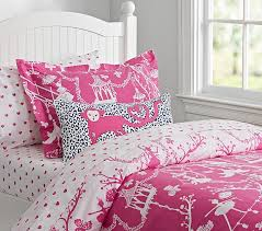 bright pink chinoiserie kids duvet