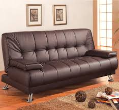 faux leather convertible futon sleeper sofa