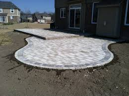 tumbled paver patios traditional