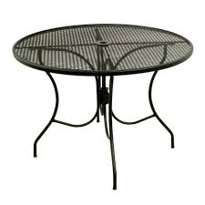 arlington house glenbrook black in round mesh patio dining table cover inch elastic with