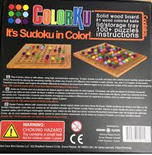 Sudoku Wooden Board Game Instructions Colorku Board Game Morning Players PuzzleNumber from Sort 53