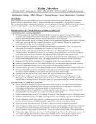 Resume Templates For Administration Job Saneme