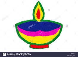 Diwali Diya Designs Photos Colour Design Diwali Diya Rangoli Festival Decoration Stock