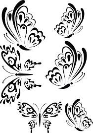 Flower And Butterfly Stencil Designs