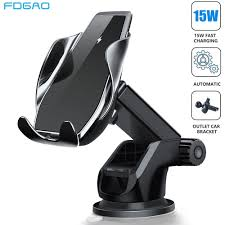 <b>15W Magnetic</b> Qi Wireless <b>Car</b> Charger Automatic Scan & Clamping ...