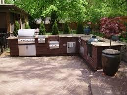 Kitchen  Minimalist Outdoor Kitchen Design Trend Home Designs - Modern outdoor kitchens
