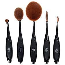 brush kit. bmc 5pc luminous perfecting curve makeup brush kit for foundation contouring blending highlighting brow work and a