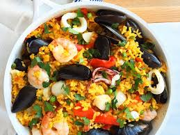 Easy One Skillet Seafood Paella Recipe ...
