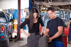 Image result for women buying tires at a tire store