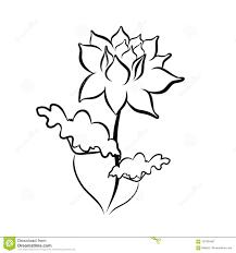 линия чертеж эскиза цветка лотоса иллюстрация вектора иллюстрации