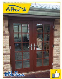 external french solid timber with glass doors