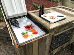 rustic ice chest how to turn an old broken refrigerator into an awesome rustic cooler