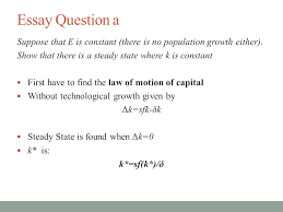 ec class lt christina ammon essay question in the lectures  essay question a suppose that e is constant there is no population growth either