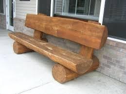 log bench log benches intended for bench designs 0 diy log bench plans