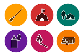 Your request was successfully submitted. Set Of Camping Icons 470336 Icons Design Bundles In 2020 Camping Icons Icon Design Design Bundles
